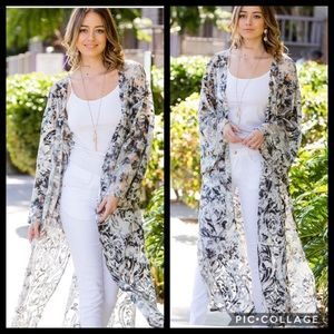 Blu Trends Tops - Absolutely Gorgeous! Sheer Duster- Abstract Print